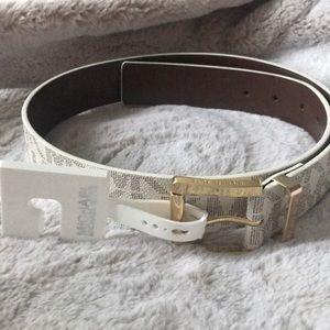 Michael Kors belt size small. White with MK logo